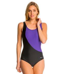 Sporti Conservative Colorblock One Piece Swimsuit