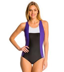 Sporti Moderate Colorblock One Piece Swimsuit