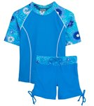 Tuga Ocean Breeze Surfer Girl 2 Piece Rash Guard Set (4yrs-14yrs)
