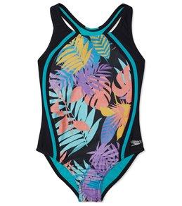 252bc58434af Speedo Girls  Sport Splice One Piece Swimsuit (Big Kid) - Deep Sapphire -