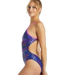 Sporti Mermaid Fancy Foil Micro Back One Piece Swimsuit