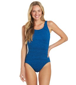 Penbrooke Krinkle Mastectomy Chlorine Resistant Empire One Piece Swimsuit