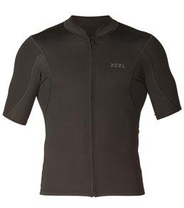 Xcel Men's 1/0.5MM Axis Short Sleeve Front Zip Wetsuit Jacket