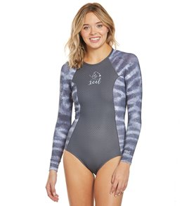 2b0ea369929 Xcel Women's Ocean Ramsey Drylock Ceilliant Jaquard Long Sleeve Back Zip  Spring Suit
