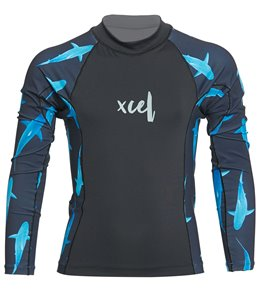 b114663a Xcel Girls' Ocean Ramsey Long Sleeve Rashguard