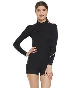 O'Neill Women's 2/1mm Bahia Back Zip Long Sleeve Spring Suit