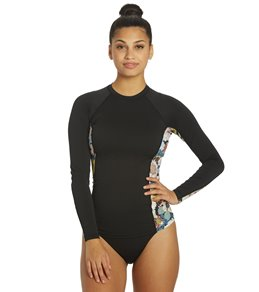 O'Neill Women's Side Print Long Sleeve Rash Guard