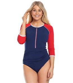 0fdd9a31c1b Capriosca Chlorine Resistant Luxe Sport Zip One Piece Swimsuit