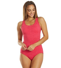 Penbrooke Krinkle Chlorine Resistant Long Torso One Piece Swimsuit