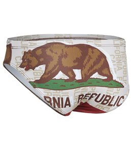 Turbo Men's Cal Flag Star Water Polo Brief