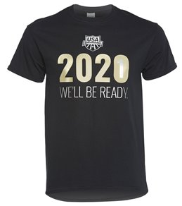USA Swimming Men's 2021 We Will Be Ready Crew Neck T-Shirt