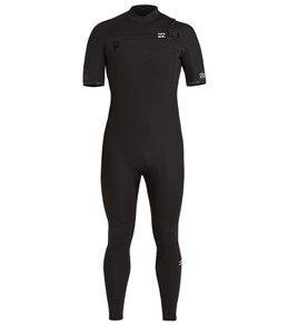 Billabong Men's 2mm Absolute Chest Zip Short Sleeve Full Wetsuit